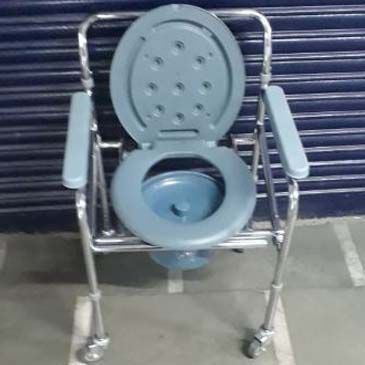 Commode Adjustable Foldable Detachable With Wheel